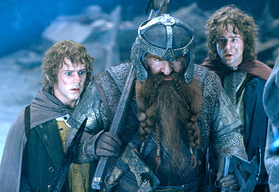 Two hobbits and a dwarf! Yay!